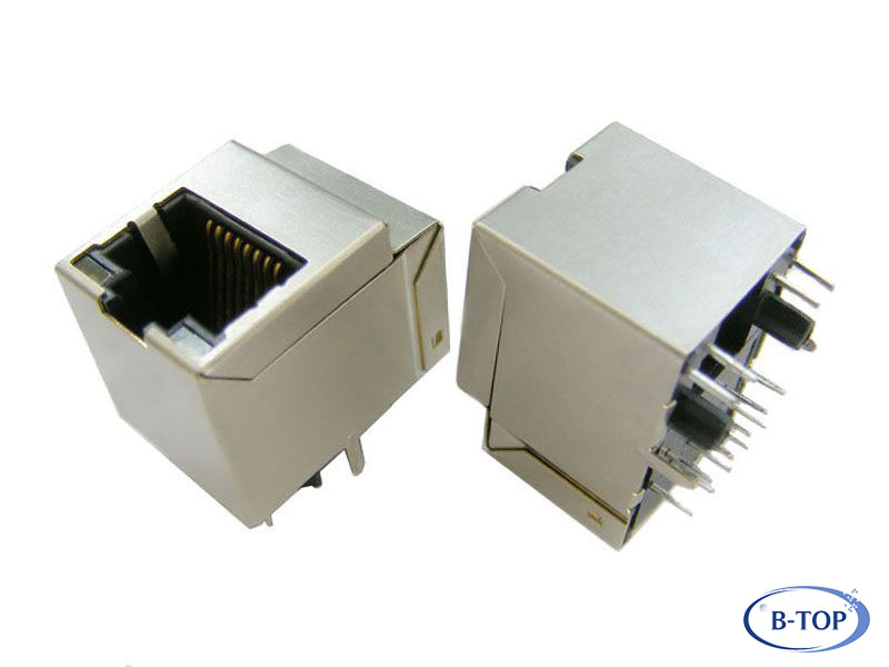 Poe Rj45 Vertical Mounted Connector Top Entry